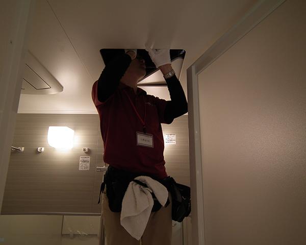 ホームインスペクション(浴室点検口から目視確認)