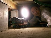 床下作業写真