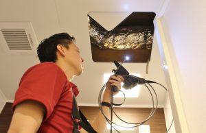 ファイバースコープカメラを使ったインスペクションの様子