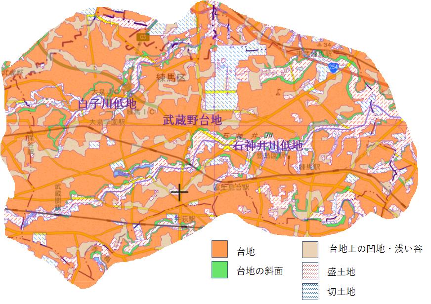 練馬区の地形の特徴